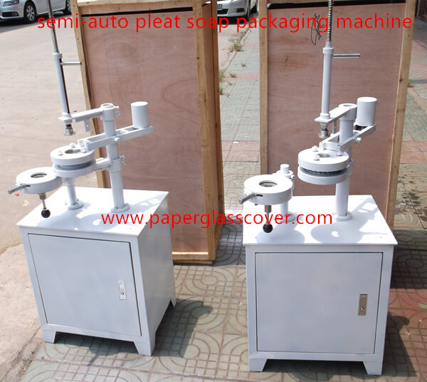 semi auto pleat soap packaging machine